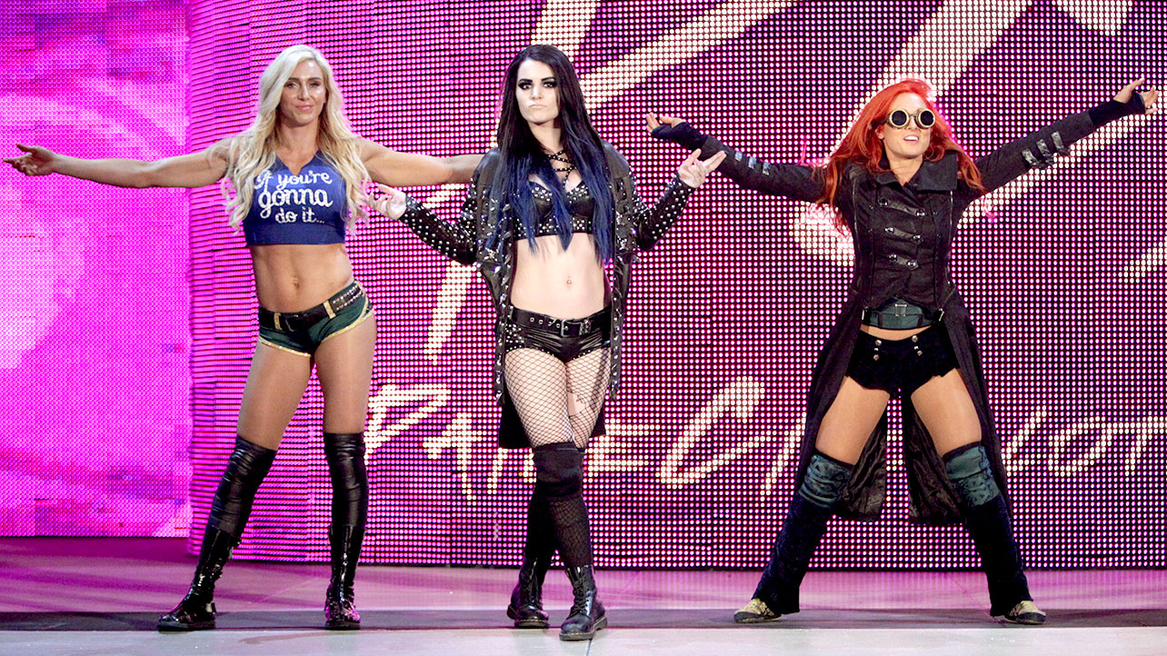 Charlotte, Becky Lynch and Paige